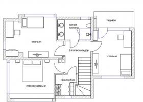 Элитный двухэтажный дом в пригороде Бургаса - для ПМЖ. Планировка 2