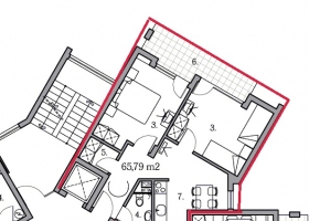 Квартира с 2 спальнями в Святом Власе недорого!. Планировка 1