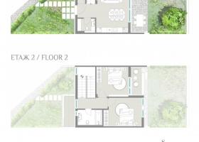 Двухэтажный таунхаус в Сарафово - срочная продажа. Планировка 1