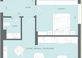 Новая квартира с участком в Сарафово - для ПМЖ. Планировка 1