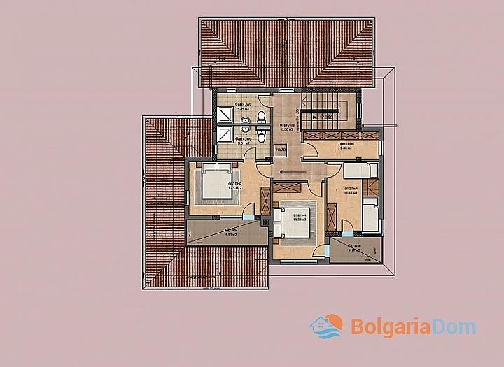 Новые дома в ближайшем пригороде Бургаса - Банево. Фото 5