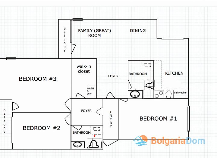 Шикарная квартира с 3 спальнями в 200 м от пляжа. Фото 6