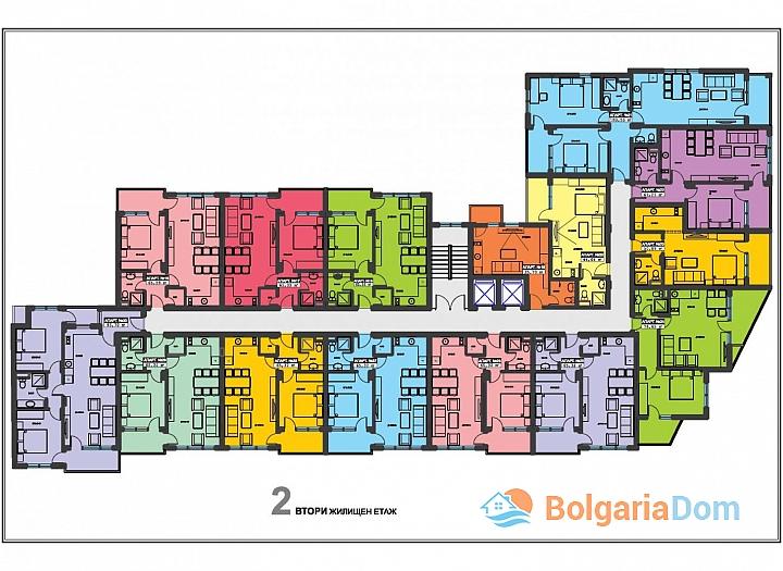 Квартиры в рассрочку в новостройке в городе Поморие. Фото 17