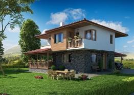 Новые дома в ближайшем пригороде Бургаса - Банево. Фото 1