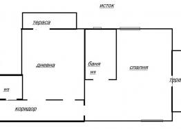 Большая двухкомнатная квартира с отоплением, без таксы. Фото 11