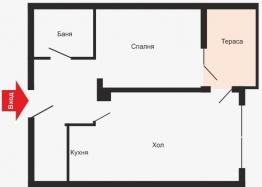Двухкомнатная квартира в Сарафово по отличной цене . Фото 4