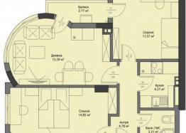 Новая квартира с двумя спальнями по выгодной цене в элитном здании. Фото 5