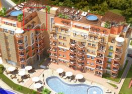 Просторная двухуровневая квартира с видом на бассейн. Фото 10